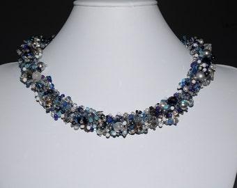 Dazzling Denim Necklace