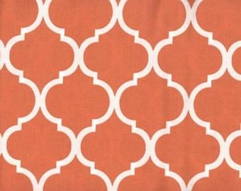 Quatrefoil Fabric Burnt Orange