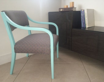 Custom painted accent chair