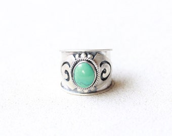 Sterling Silver Boho Ring, Sterling Silver Ring, Gypsy Ring, Statement Rings, Wide Band Ring, Customized Ring, Jewelry