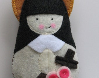 Saint Therese of Lisieux...Little Flower...Felt Softie