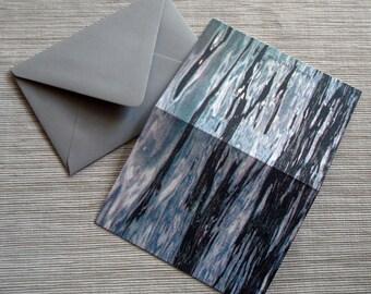 Ozean Sea Gezeiten Sand Strand CMYK Siebdruck Briefpapier SET von 4 gefaltet Notizen mit Umschlägen