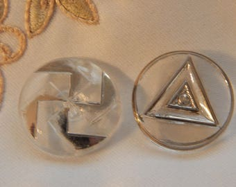 Clear Glass with Silver Luster Designs - 2