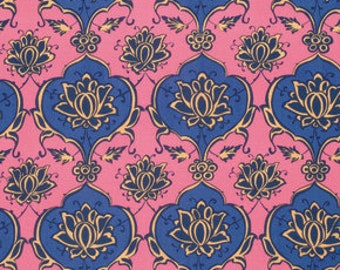 Snow Leopard - Iznik Kubachi in Amethyst 100% Quilters Cotton Available in Yards, Half Yards and Fat Quarters
