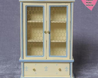 Dolls House Miniature Country Style Cupboard
