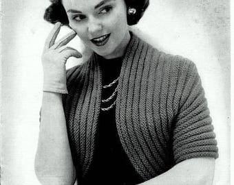 Quaker Stitch Sweater Shrug Knitting Pattern 726096