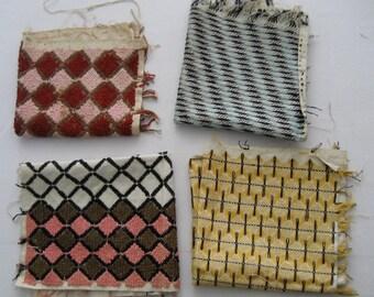 four unique antique pieces of embroidery