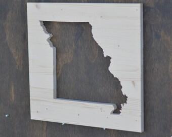 Missouri State Wood Silhouette Cutout