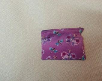 Petit papillon violet changement/bijoux sac à main