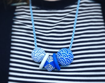 Waves Necklace Handpainted
