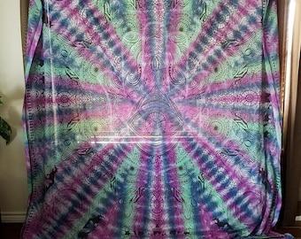 Large Hamsa Tie Dye Tapestry