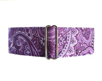 Martingale Dog Collar, Purple Martingale Collar, Paisley Martingale Collar, Paisley Dog Collar, Purple Dog Collar, Purple Paisley