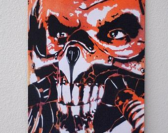 Immortan Joe Fury Road Multilayer Graffiti Stencil Art on Canvas Board 8x10