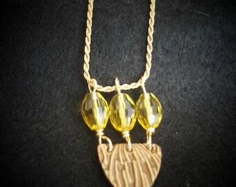 Citrine Swarovski Beads and Bronze