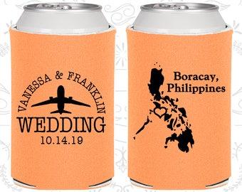 Peach Wedding, Peach Can Coolers, Peach Wedding Favors, Peach Wedding Gift, Peach Wedding Decorations (187)