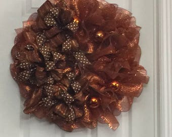 COPPER COLORED WREATH