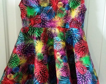 Size 2 Fireworks Celebration Dress
