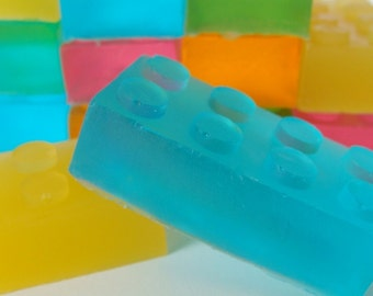 Building Block Soap. Back To School, For Kids, Teacher Gift, Birthday Gift, Geek Gift, Play Soap, Glycerin Party Favors, Wedding Favor