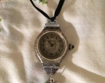Vintage Gianello Sterling Silver Deco Pendant Quartz Watch ...
