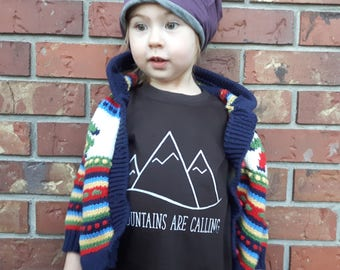 CLEARANCE Mountains Are Calling Kids Tee - Original and Ethical fashion