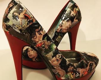 Wonder Woman Heels (Size 7)