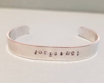 Lorraine!- Aluminum Cuff Bracelet