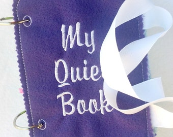 Felt quiet book cover - Toddler quiet book - Quiet book page - Busy book page - Felt busy book - Quiet book pages front and back   #QB21