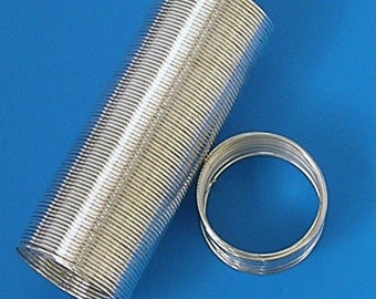 130 Coils Silver Plated 20mm Memory Wires Ring Jewellery Making