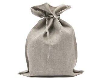Linen Bag, Linen Gift Bag, Linen Bread Bag, Linen Bag, Organic Bag 33 x 45 cm