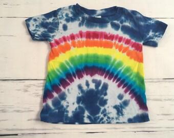 6 Month Baby Rainbow Skies Tie Dyed Tee Shirt