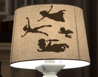 Peter Pan's flight shadow lamp shade fairytale princess Disney Kids Shadow Inspired by Disney Lamp Shade
