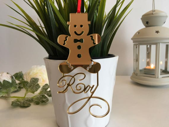 Custom Gingerbread Personalized gift for kids Christmas tree decorations Gingerbread man Personalized hanging ornament Baby first Christmas