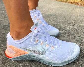 New NIKE METCON 4 Training Shoes Encrusted With Swarovski Crystals