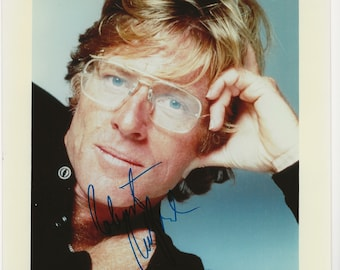 Vintage Robert Redford Color 8x10 Photo Autographed Original Signed with Blue Marker Hollywood Memorabilia