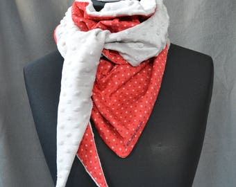 PEP scarf red and gray