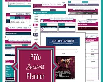 Printable PIYO Planner, Fitness Planner, Fitness Printable, Letter Size, INSTANT DOWNLOAD, PiYo, Health Printables, Printable Planner