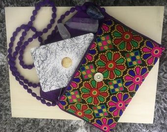Tarot deck and crystal pouch