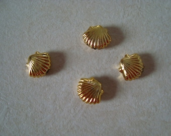 Plastic form Golden shell Pearl