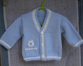 Little Cat Baby Cardigan - 6 months