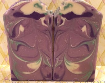 Lavender Mint Cold Process Bar Soap, Cocoa Butter Vegan Soap, Tall and Skinny bars