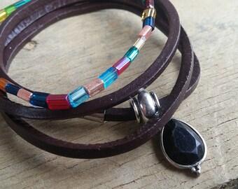 wrap bracelet, stretch bracelet, layered bracelet