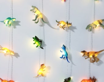 Dinosaur string lights by Calico Clouds