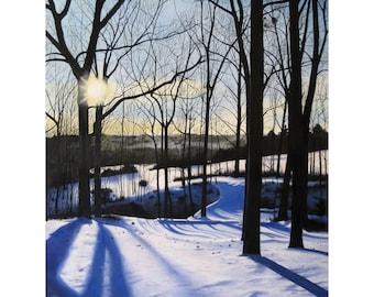 10x13 Winter Morning Giclee Print