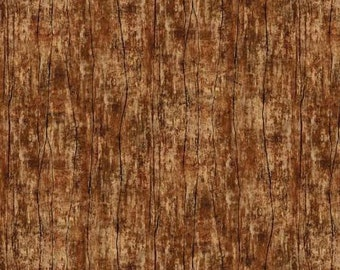 Greener Pastures Brown Wood 82495-225 from Wilmington Prints by the yard