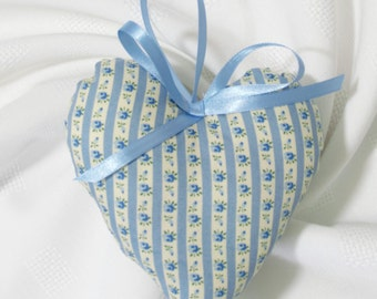 Lavender Scented Padded Blue Hanging Heart