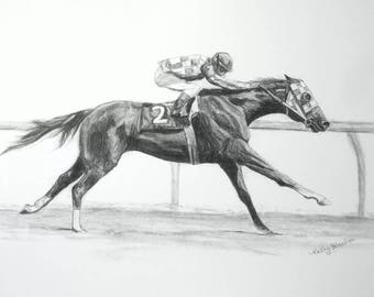 SECRETARIAT Horse Racing Art Print