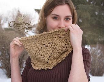 PDF Crochet PATTERN Veiled Hearts Cowl