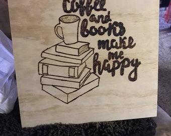 Coffee and books wall decor