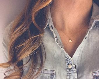 Dove necklace   Bird necklace, Dainty necklace, Gold necklace, Charm necklace, Delicate necklace, Bird jewelry