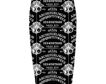 Ouija Girl Skirt - Victorian Gothic Ouija Girl long pencil skirt - this item is made to order only